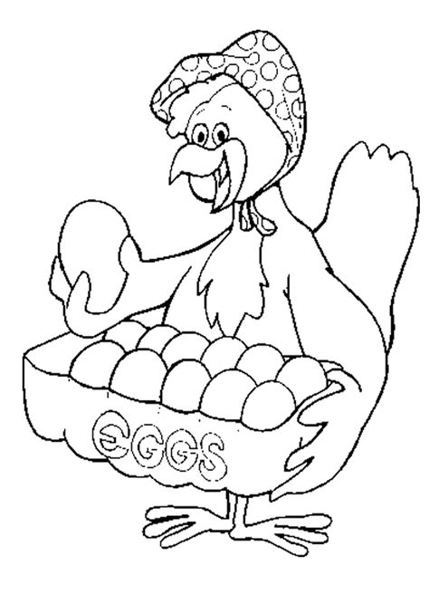 chicken coloring pages free hen on nest coloring pages