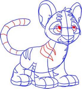 Draw A Drawing Printout How To Draw A Neopet Kougra