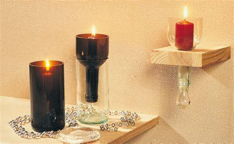 contenitori per candele creare riciclando bottiglie bricoportale fai da te e