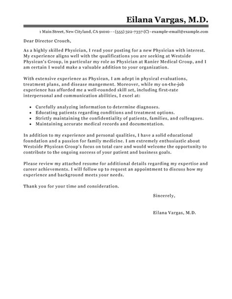 Introduction Letter To Gp Best Doctor Cover Letter Exles Livecareer