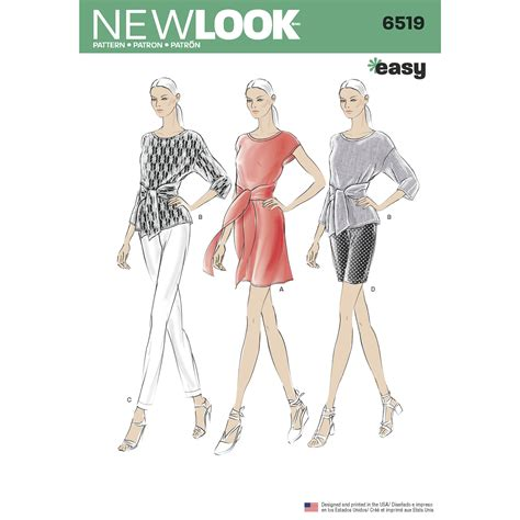 sewing pattern review forum new look 6519 misses dress or top and pants or shorts