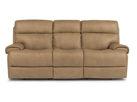 flexsteel living room leather power reclining sofa 1441