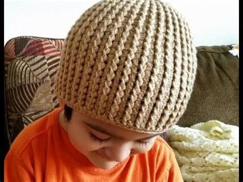 como tejer gorros de crochet como tejer gorro en crochet para ni 241 os youtube croche