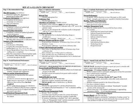 biography checklist for students 3 iep at a glance checklist kids fun pinterest