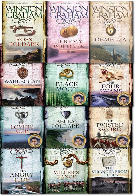 winston graham poldark series winston graham poldark series 12 books collection set novel of cornwall ebay