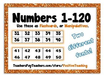 printable number tiles 1 100 number cards 1 120 numbe by positiveteaching