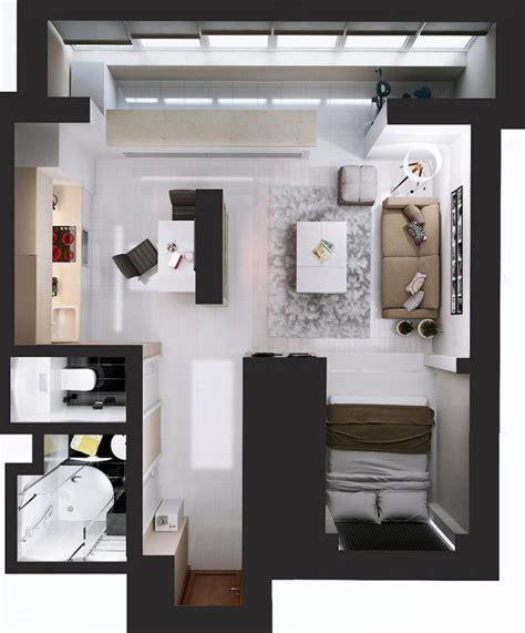 17 best ideas about studio apartment layout on