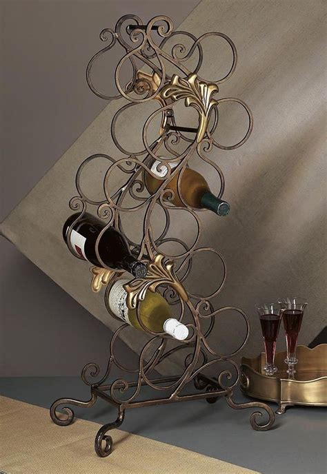 Metal Floor Standing Wine Racks by Wine Rack Quot Bellagio Quot Floor Standing Metal Wine Rack 12