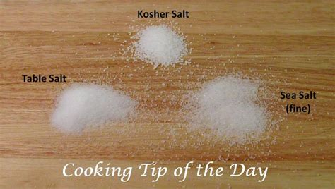 difference between sea salt and table salt for piercings cooking tip of the day salts sea salt kosher salt
