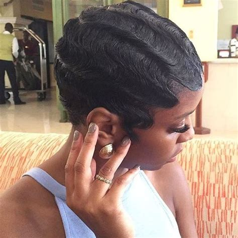 black people hair finger wave with wet and wavy hair added pinterest the world s catalog of ideas
