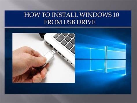 Install Windows 10 To Flash Drive | how to install windows 10 from a usb flash drive youtube