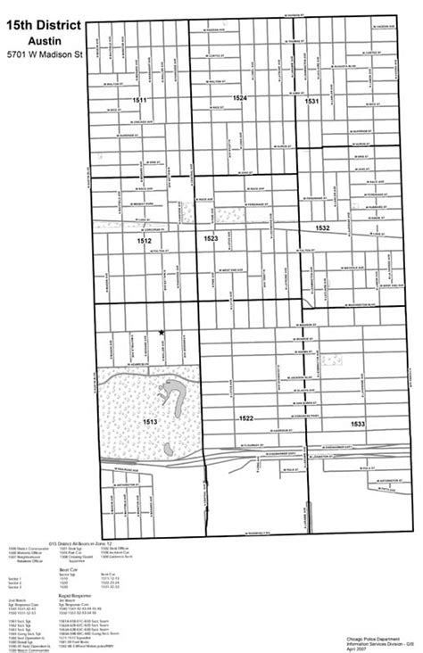 Chicago Police Department – District 015 – Austin Map