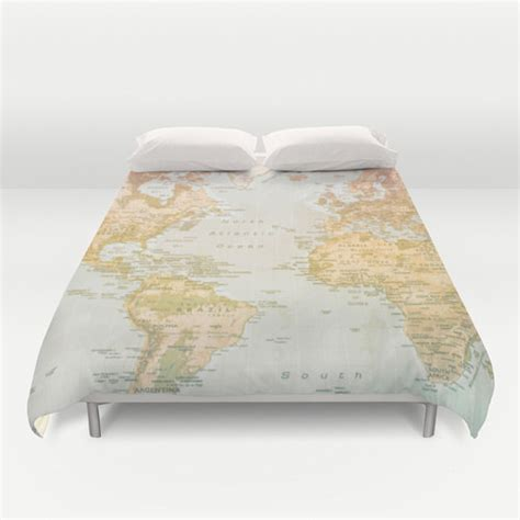 world map bedding world map duvet cover bedding bed sheets pastel color