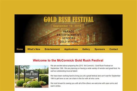 net layout event website design client mccormick gold rush festival