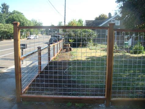 fences on wire fence fence and wood fences wood frame wire fence deck masters llc portland or