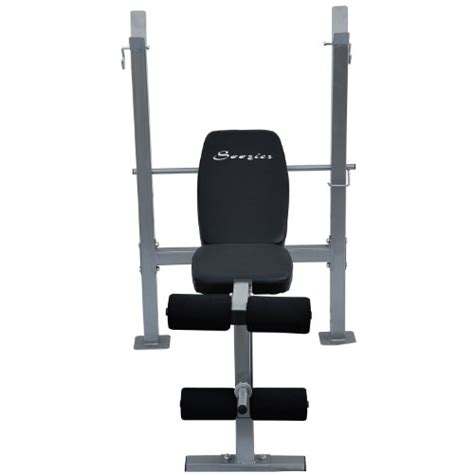 free weights bench soozier incline flat exercise free weight bench w leg