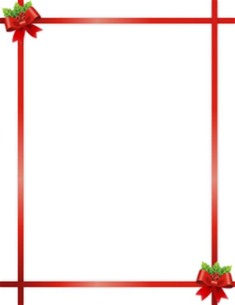 christmas borders clip art page borders  vector