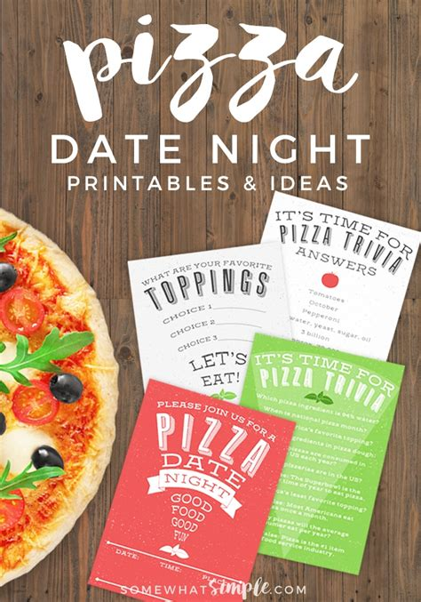 date ideas pizza date printables and ideas somewhat simple