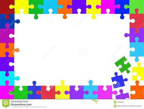 cornici puzzle jigsaw puzzle frame stock illustration illustration