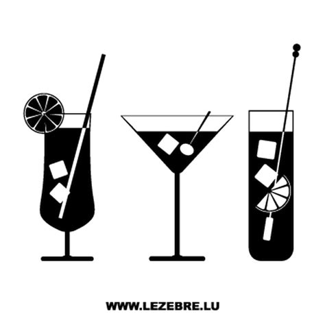 cocktail logo kit stickers verres 224 cocktails
