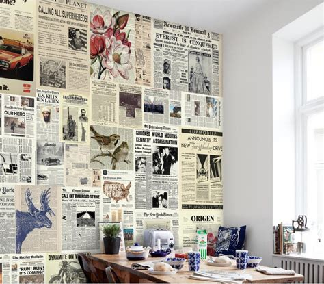 Wallpaper Sticker Wallpaper Stiker 45cmx5m Wps187 Nature popular newspaper print wallpaper buy cheap newspaper