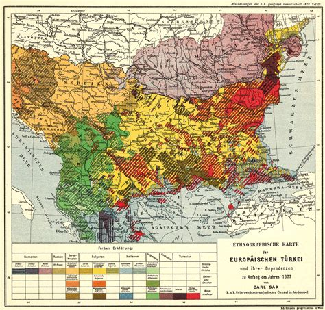 ottoman balkans 1877 ethnic map of the ottoman balkans map balkans