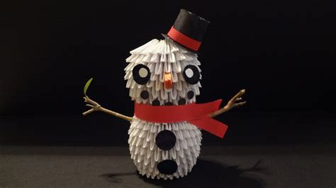 3d Origami Snowman - 3d origami snowman by ibeautylovely on deviantart