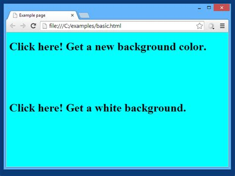 background color javascript we can to change background color with javascript code