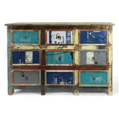 cassettiere industriali cassettiera vintage multicolor arredo industriale
