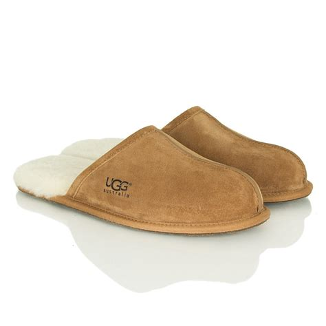 ugg house shoes men ugg 174 chestnut mens scuff mens slipper