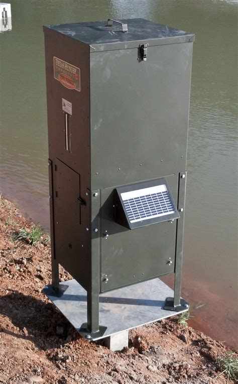 Fish Feeders For Lakes automatic pond fish feeder pond fish feeder low maintenance reliable