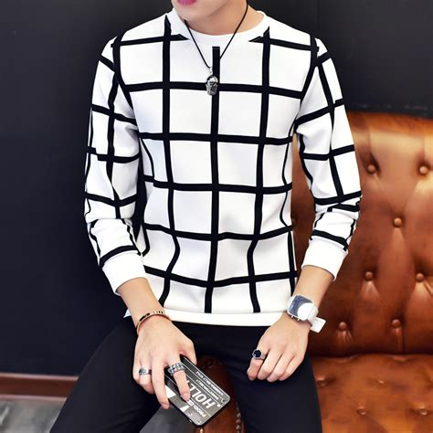 T Shirt Pria Kaos Big Size Xxxxxl 5xl Adidas All aliexpress buy korean fashion t shirt 2017 new arrival sleeve plaid t shirt