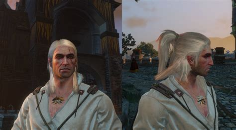witcher 2 how to change hairstyle witcher 1 and 2 hairstyles on geralt witcher