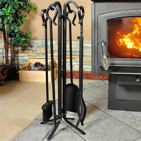 iron fireplace tools 5 black wrought iron fireplace tool set