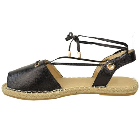 flat sandals for summer new womens flat espadrilles sandals lace up ankle