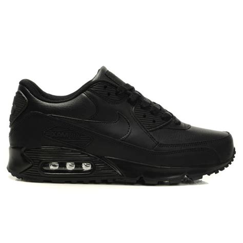 the lowest price all black nike air max 90 leather shoes