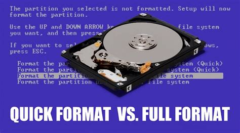 quick format cd rw difference between quick format and full format which