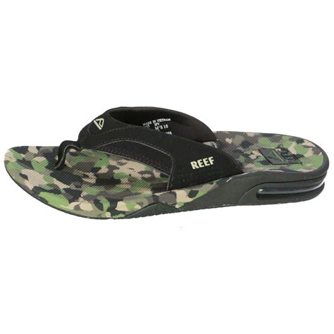 mens camo sandals reef water friendly mens sandals with bottle opener