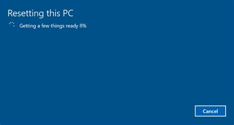 windows resetting your pc how to reset your windows 10 pc
