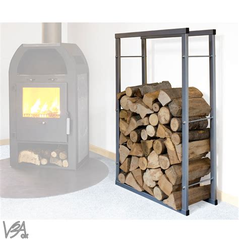 modern firewood rack log storage bracket shelf stand