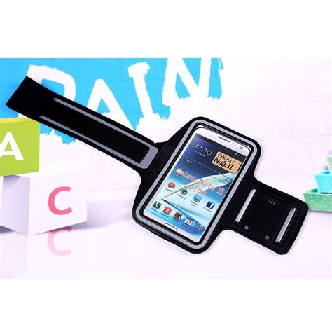 Neoprene Material Sports Armband For Samsung Note 2 3 Gagdet Unik neoprene material sports armband with key storage for samsung galaxy note 2 3 ze ad207