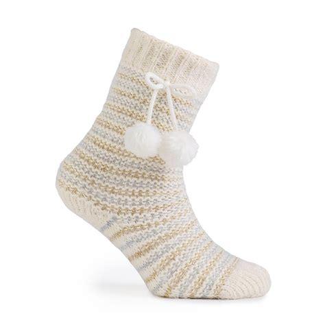 silver isotoner slippers totes fluffy lurex slipper socks totes isotoner