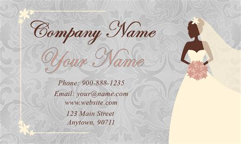 wedding coordinator business cards elegant beautiful