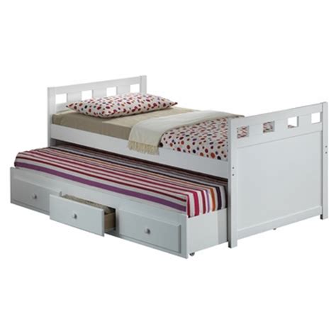 capitano white trundle bed with drawers broyhill kids breckenridge twin captain bed with trundle