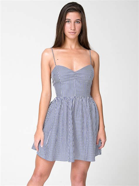 Dress For Withamerican Apparel by Stripe Tie Back Dress American Apparel