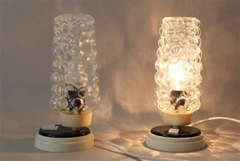mid century bubble l mid century nachttischlen mit bubble glas leuchten 2er