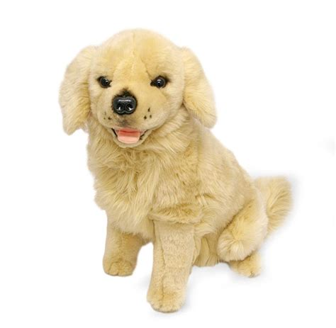 golden retriever with stuffed animal golden retriever stuffed animal soft plush goldie 14 quot 36cm new ebay