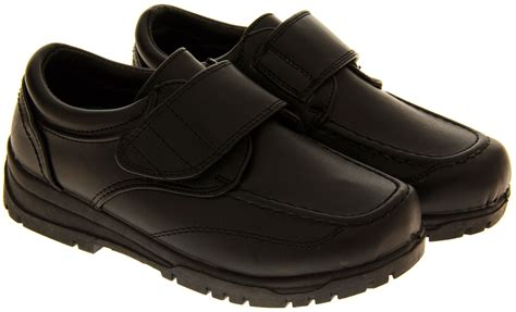 school shoe boys black back to school shoes scuff resistant