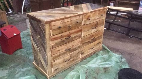 building a dresser out of wood wooden pallet dresser chest of drawers 99 pallets