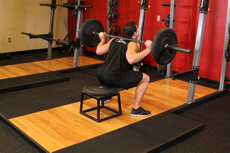 bench squat barbell squat to a bench exercise guide and video